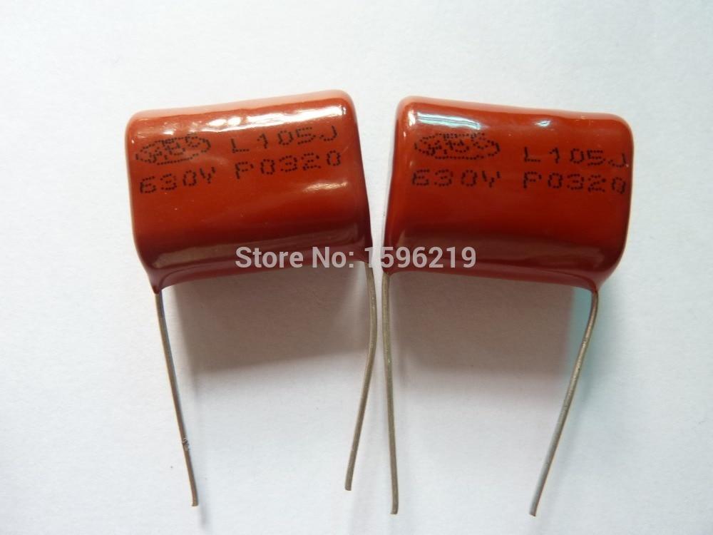 100pcs CBB 105 630V 105J CBB21 1uF 1000nF P22 Metallized Polypropylene Film Capacitor