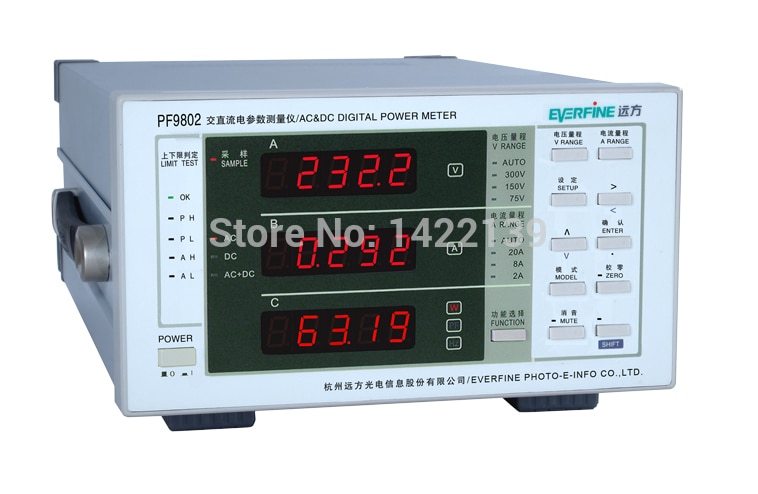 New PF9802 DIGITAL POWER METER(AC & DC MODEL)
