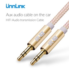 Unnlin 3 polak 3.5 Jack Audio kabel Aux przedłużenie kabla 2m 3m dla samochodu zestaw słuchawkowy z głośnikiem soundbar subwoofer zestaw słuchawkowy słuchawki
