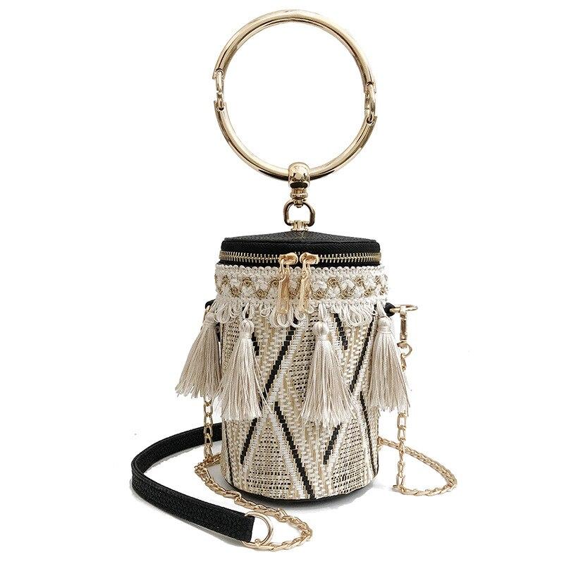 Bolso de mano para mujer con 3 colores trenzados tipo cubo a la moda, de tendencia, desmontable, multifunción, Nuevo Bolso de Hombro A458
