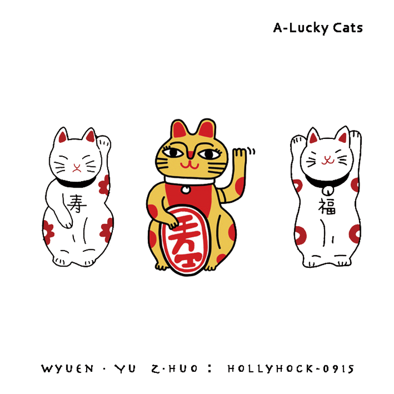 1 шт., водонепроницаемые наклейки для татуировок с тремя кошками-лаки, оригинальные простые наклейки для татуировки, для модных людей