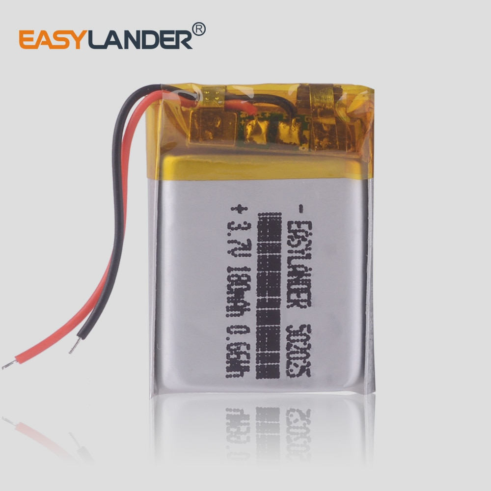 CE Rohs 3.7V lithium polymer battery 052025 502025 180mah MP3 MP4 MP5 video recorder Junsun 7810G pro dvr advocam recorder
