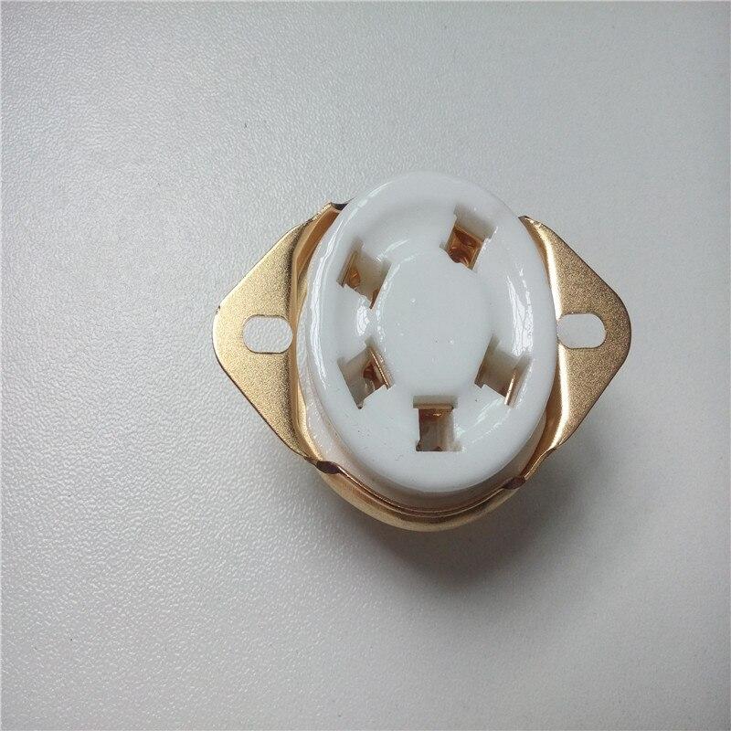 3 stücke keramik rohr buchse 5 pin rohr buchse GZC5-21-G goldene fuß für 807 FU-7 24 37 46 27 FD-422
