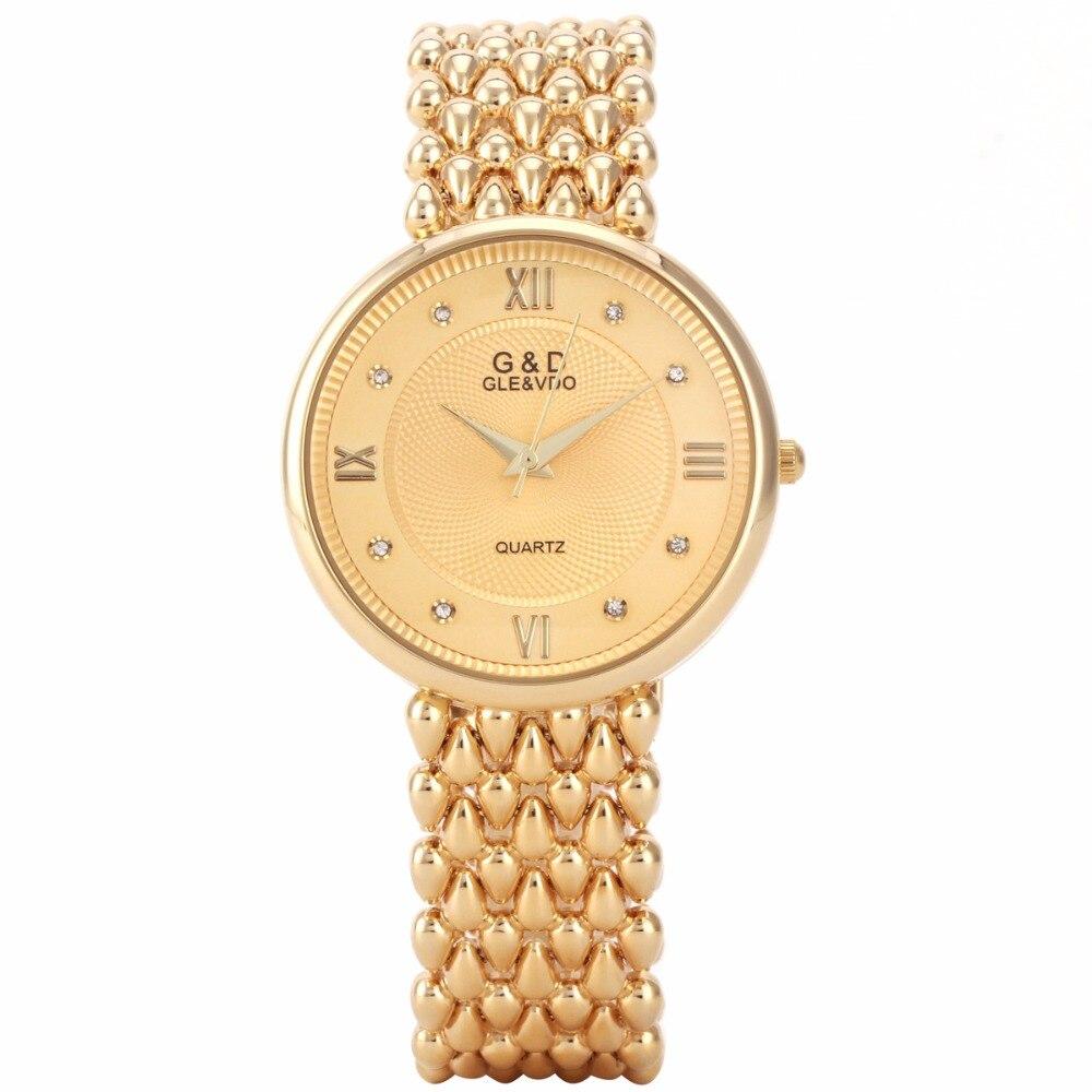2018 G&D Top Brand Luxury Womens Watches Fashion Quartz Wristwatch Ladies Bracelet Watches Relogio Feminino Hapyy New Year Gifts enlarge