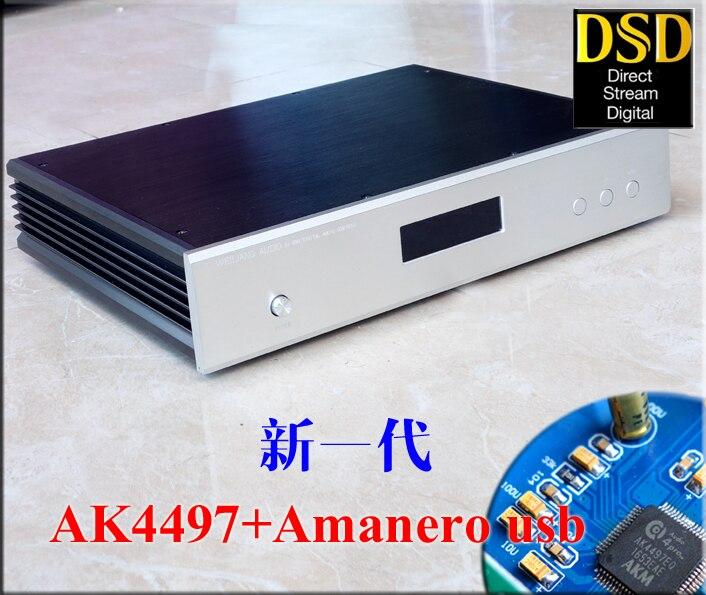 De Audio DC100 decodificador DAC chip Dual AK4497 apoya DSD256/PCM384K