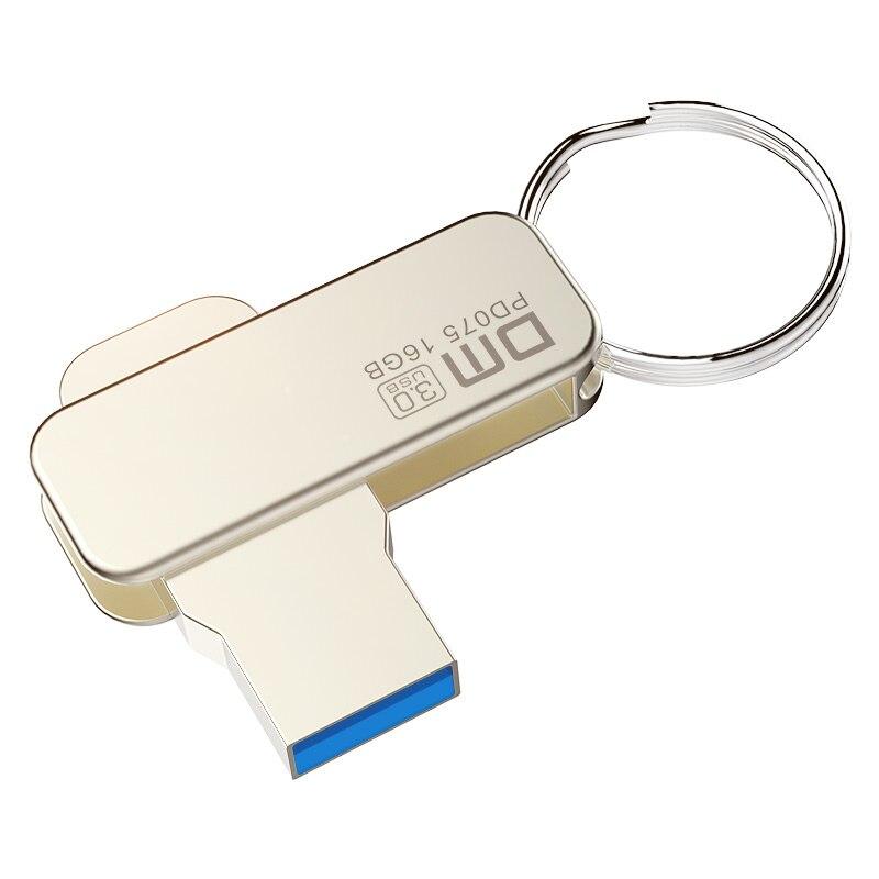 DM PD075 USB דיסק און קי 16 GB מתכת Pendrive USB 3.0 זיכרון עט מקל כונן קיבולת אמיתית USB מקל