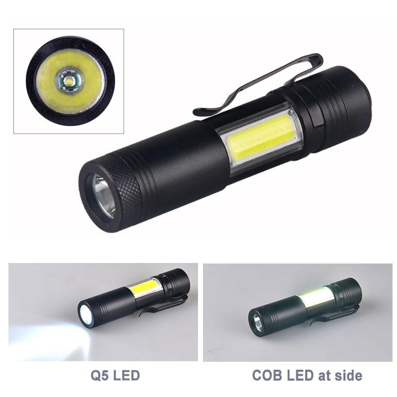TMWT bolsillo 300 Lumen Ultra brillante 3 W XPE COB LED Mini linterna antorcha Luz