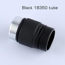 18350 battery tube for S2+ black flashlight