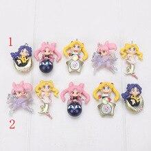 5 unids/set marinero Luna muñeca en miniatura 3 figura juguete Chibi Moon reina serenidad Princesa Kaguya negro dama y Luna
