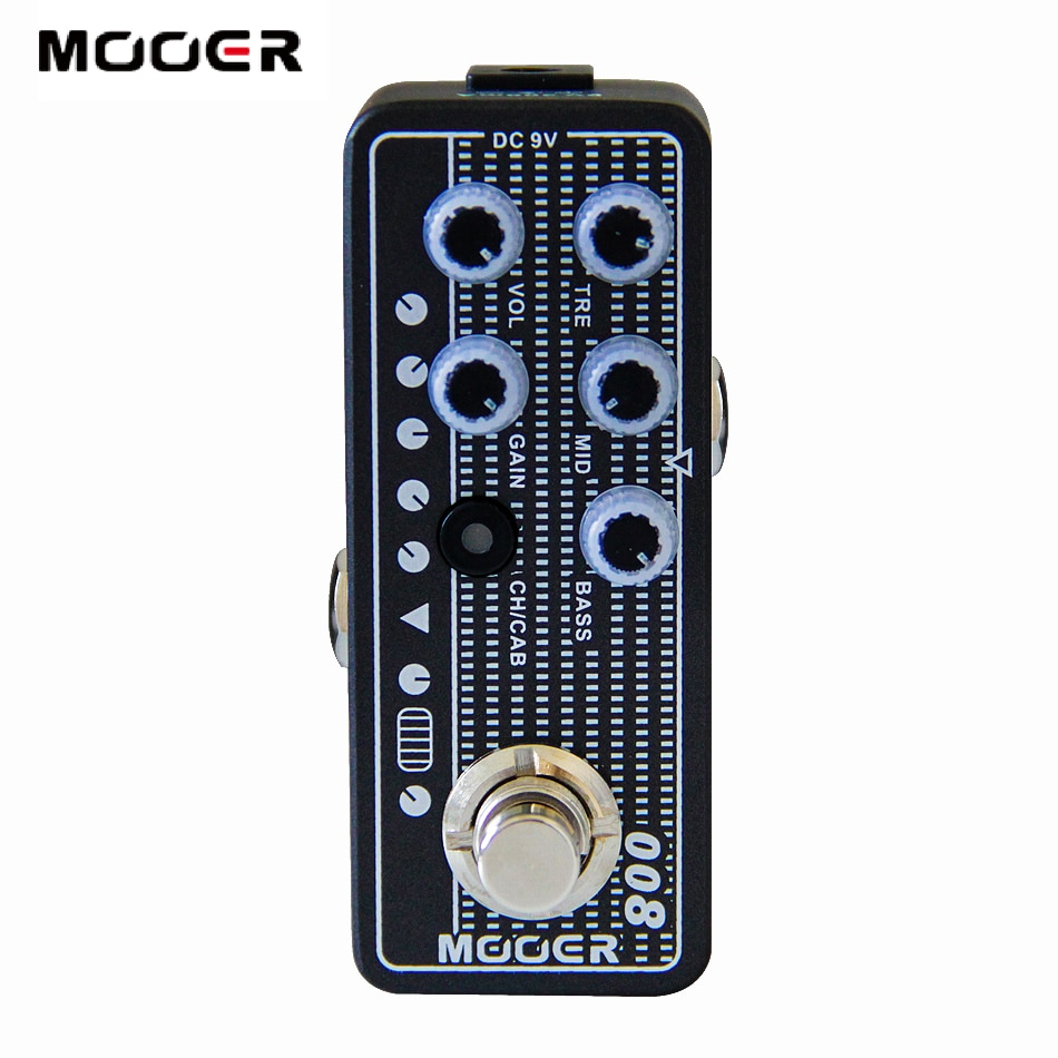 MOOER 008 Cali-MK 3 Digital Preamp pedal de guitarra elétrica de Alta qualidade dual channel 3 Independente band EQ preamp