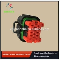 free shipping 100 pcs 14 pinway tyco amp female waterproof automotive connector plug 776273 1 without terminal