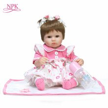 NPK Bebes Reborn poupées de Silicone corps de fille 40cm adorable poupée jouets pour filles boneca bébé Bebe poupée meilleurs cadeaux jouets