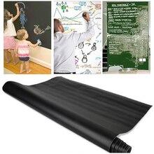 Autocollant mural de tableau noir craie   Autocollant de tableau noir, dessin amovible en vinyle, décoration murale de chambre denfants, appliques art
