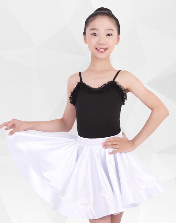 Vestido latino para niños Rumba cha salsa tango vestido latino vestido de competencia de baile negro blanco rojo MW M0038