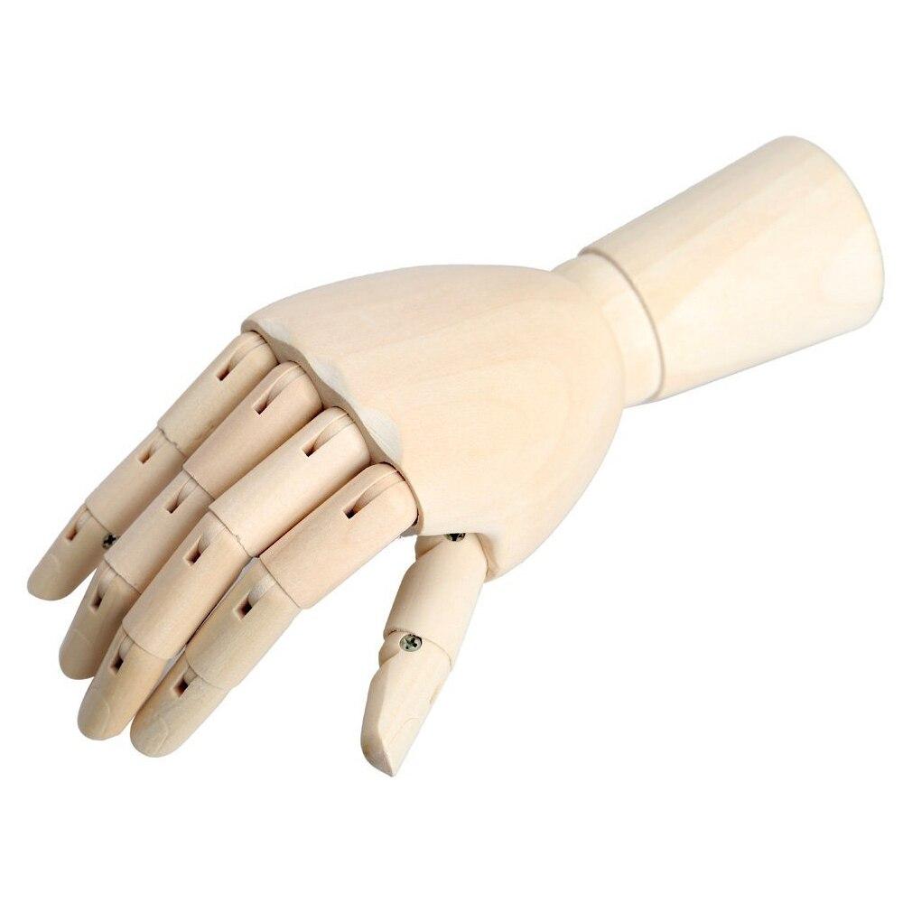 WOTT 18*6cm articulado de madera derecho manos de maniquí modelo regalo alternativas de arte