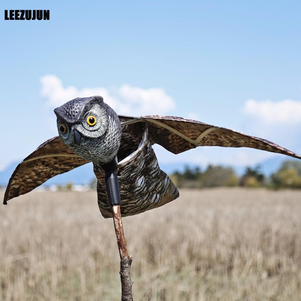 Répulsif pour la lutte contre les oiseaux   Leurre de chouette, avec ailes mobiles, oiseaux effrayants et réalistes, rongeurs, insectes, parasites, ombrage
