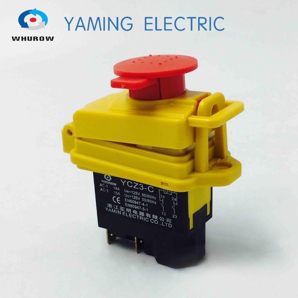 Zündung Momentary Presse Push Button Schalter schutzhülle YCZ3-C Notfall stop & starten 5 Pin Auf Off Red zeichen 10A 125V