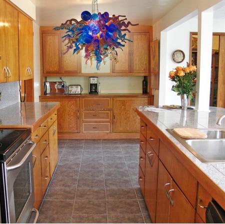 Modern Hand Made Blown Glass Chandelier Lighting Luxury Chandelier for Kitchen Room
