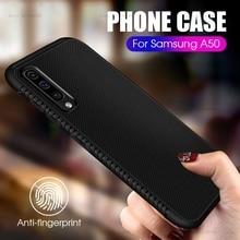 Ultra Dunne Zwarte Case Voor Samsung Galaxy A50 A30 A10 A20 EEN 50 30 10 20 Siliconen Mat Cover Voor samsung S10 S9 Plus A6 A8 Case