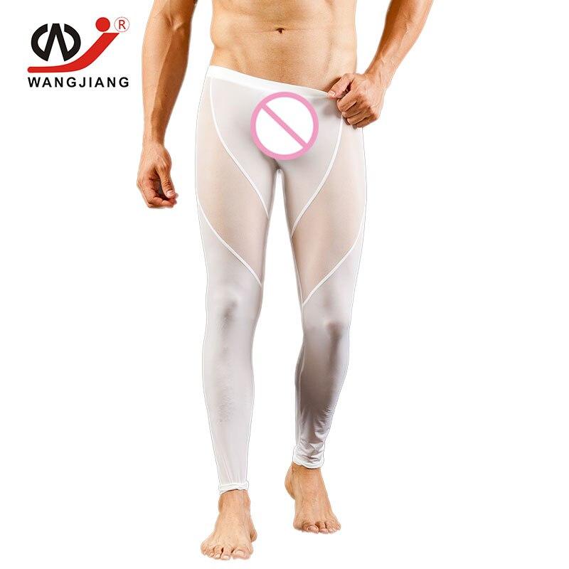 WJ Brand Clothing Sexy Underwear Men Boxer Long Transparent Mens Sexy Underwear Cuecas Gay Men Seamless Nylon Spandex Underwear