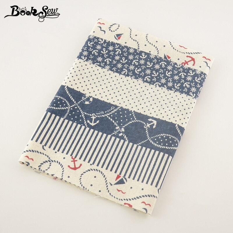 Booksew Sea Anchor Projeto Costura Tissu Para Toalha de Mesa De Tecido de Linho de Algodão Home Textile Travesseiro Saco Almofada Cortina Decoração