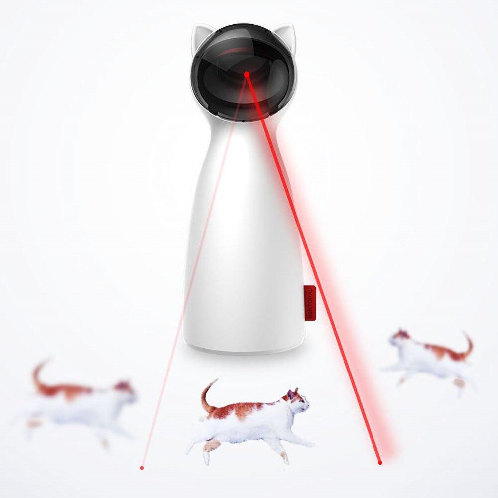 Gato brinquedo interativo led laser engraçado brinquedo auto girando gato exercício treinamento divertido brinquedo multi-ângulo ajustável carga usb