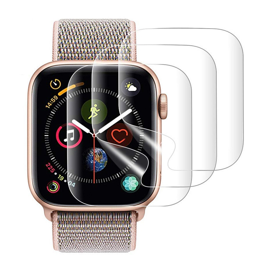 2PCS 9D Full Curved Soft Tempered Glass For Apple Watch 38 40 42 44mm Screen Protector on i Watch 4