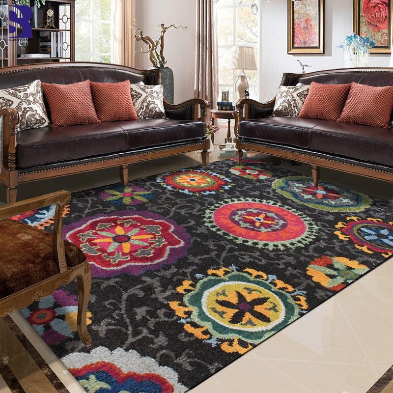 SunnyRain 1-قطعة ماندالا السجاد لغرفة المعيشة منطقة البساط ل غرفة نوم قصيرة أفخم السرير غرفة السجاد كبير حجم المطبخ البساط