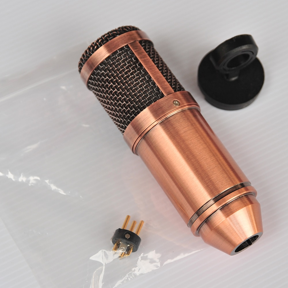 Gold Gray Brown Metal DIY Microphone Body Casing Mic Case Shell