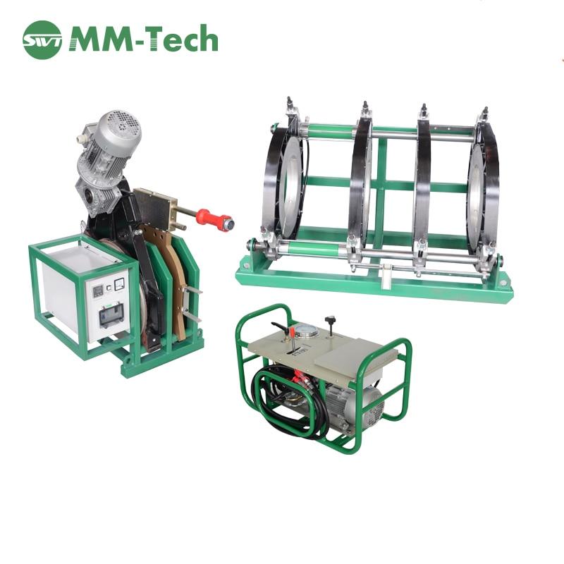 SWT-B450/200 H tomada ppr máquina de soldadura, plastic pipe máquina de soldadura portátil, tubulação de pead butt fusion machine preço