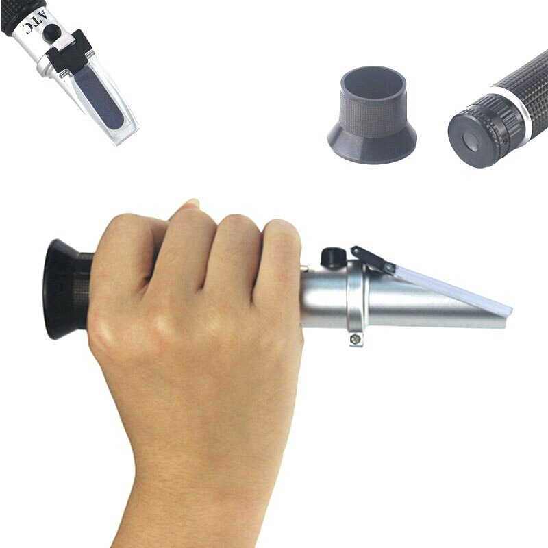 Hand Gehalten Refraktometer Alkohol Alkoholometer 0 ~ 80% V/V Schnaps Detektor Konzentration Geistern Tester Mit ATC