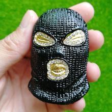 Goon preto máscara de esqui pingente masculino contra anti-terrorismo chapelaria colar jóias n682b