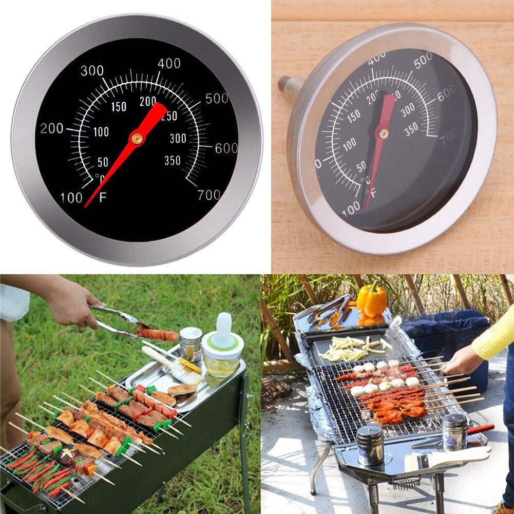 Aço inoxidável churrasco grill temperatura termômetro forno grill cozinhar medidor de temperatura 100 a 350 fahrenheit comida carne calibre bakeware