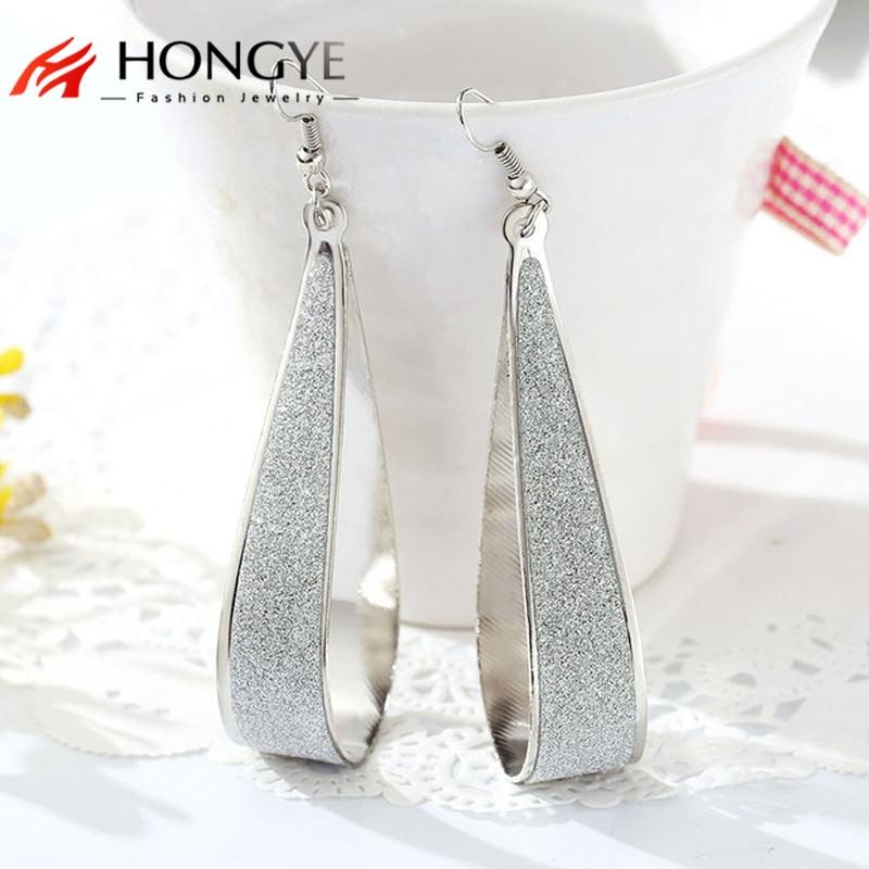 2020 Popular style personality branded design shiny geometric  drop earrings cheap earring for women