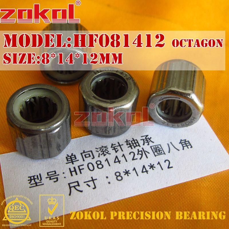 Rodamiento zokol HF081412 EWC0812 anillo exterior rodamiento de agujas de una vía 8*14*12mm hexagonal moleteado
