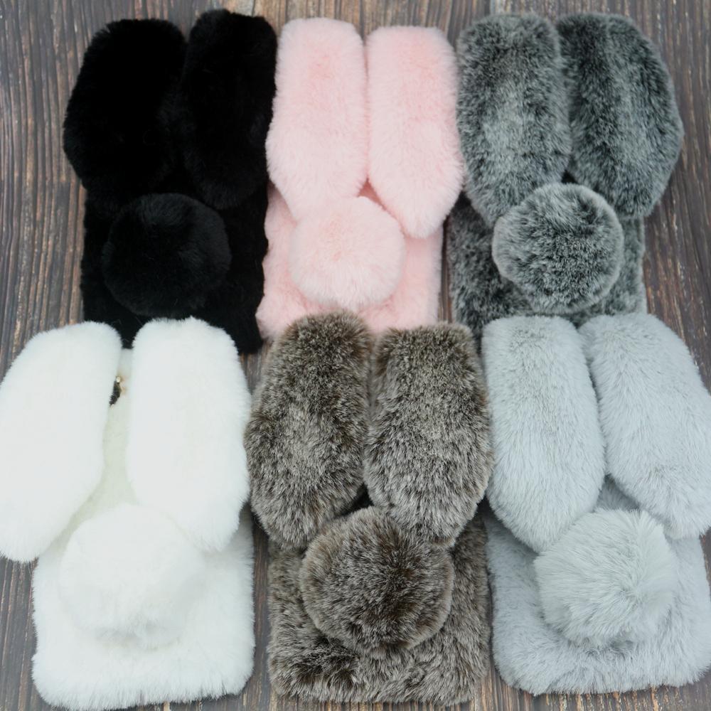 Rabbit Fur Case For Xiaomi Redmi 6 Pro S2 6A 5A 5 Plus 4X 4A 4 Note 7 6 5 Pro 5A Prime 4X 3 Y1 Redmi GO 8 8A 8T K30 Warm Covers