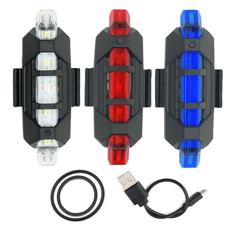 ¡Novedad! ¡Nuevo! Mini WasaFire luz trasera de bicicleta, luz de advertencia de seguridad recargable por USB de 5 Luz trasera LED, luz de bicicleta para ciclismo