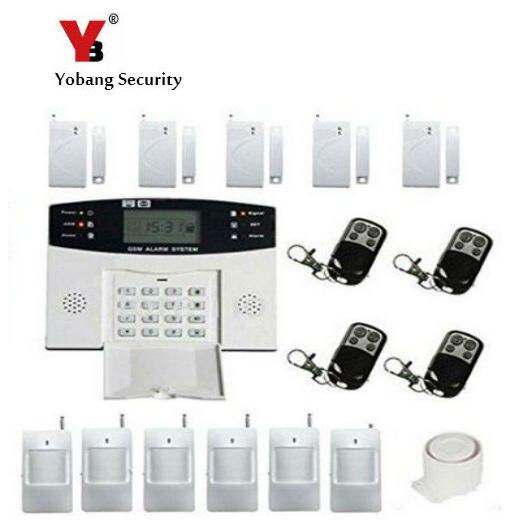 Sistema de alarma antirrobo YobangSecurity inalámbrico con cable GSM SMS para el hogar, intercomunicador con Sensor de humo, voz rusa francesa y española
