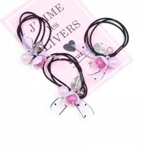 10PCS/LOT Pink balls Elastic Hair Bands For Girls Bohemian Headband Scrunchy Korean Fashion Kids Hair Accessories For Women