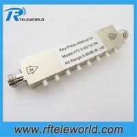 free shipping 2.5/3GHz 50ohms 10w Copper 90db N/SMA 1dB stepped variable step attenuator Copper keypress attenuators