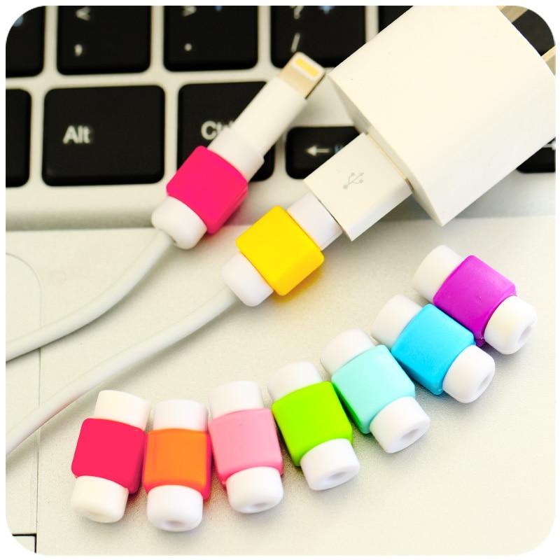 Protector de Cable USB cubierta para el iPhone 4 4s 5 5S 5C 6 6 S Plus 6 7 8 Plus X XS X carcasa para Max XR cargador Cable auricular Accesorios