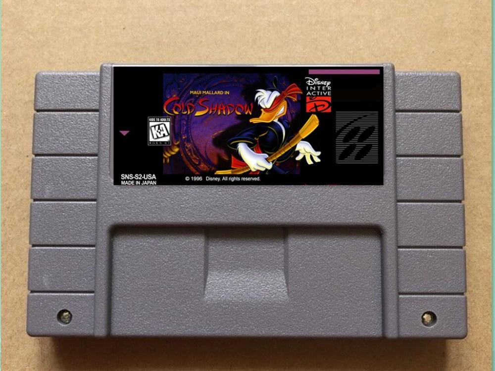 Mallard maui em cold shadow USA-NTSC versão 16 bit 46 pinos jogos de vídeo!