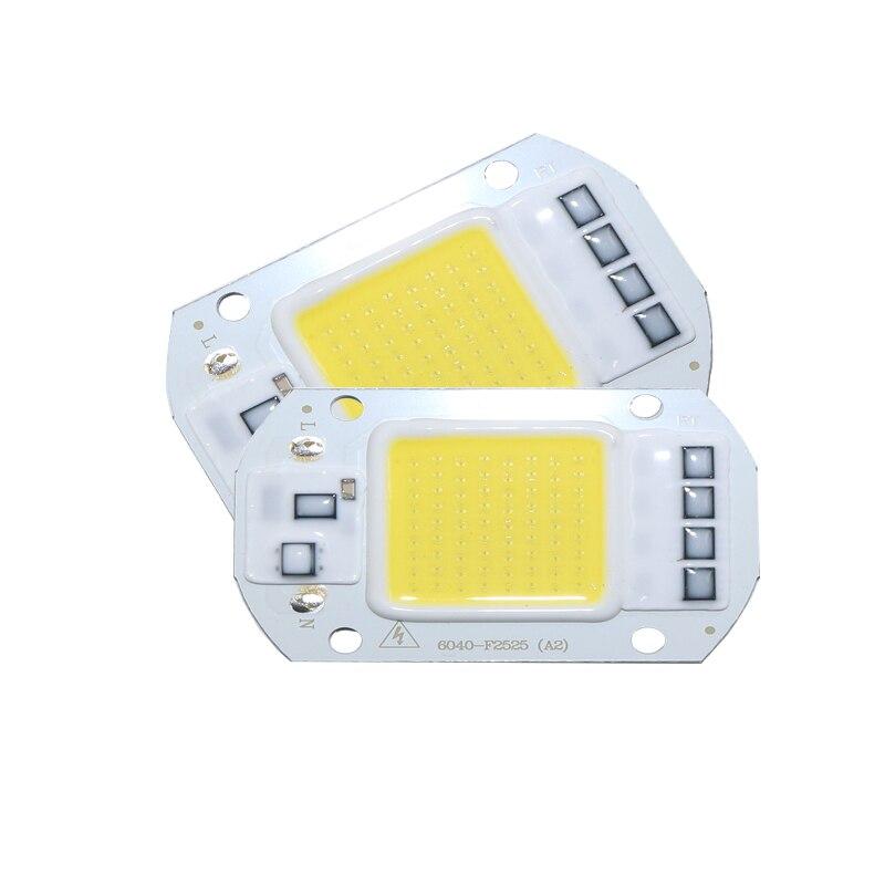 Smart IC высокомощный СВЕТОДИОДНЫЙ матричный светильник для проекторов 20 Вт, 30 Вт, 50 Вт, 110 В, 220 В, DIY прожектор, COB Светодиодный точечный диодный светильник, уличная лампа