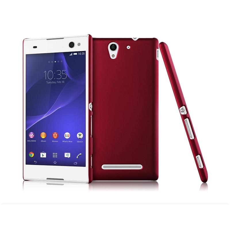 Mode Bereiften Gummi Matte Hard Case für Sony Xperia C5 Ultra C4 E5333 C3 Dual D2533 Peeling haut Rückseitige Abdeckung Handy shell