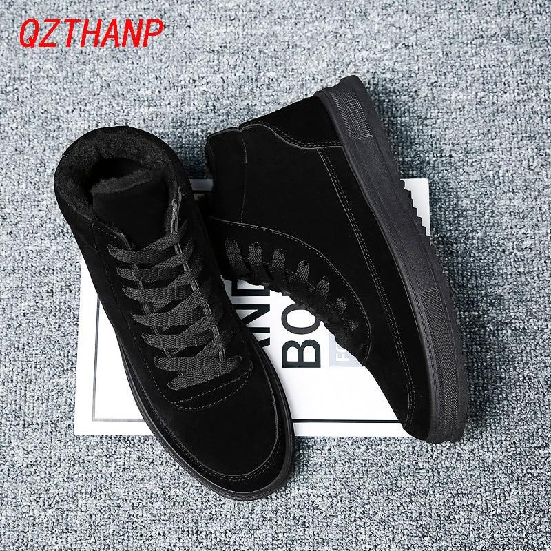 2020 Fall Shoes Men Krasovki Zapatillas Casual Schoenen Male Black Warm Tenis Masculino Adulto High-top Sneaker Chaussures Homme