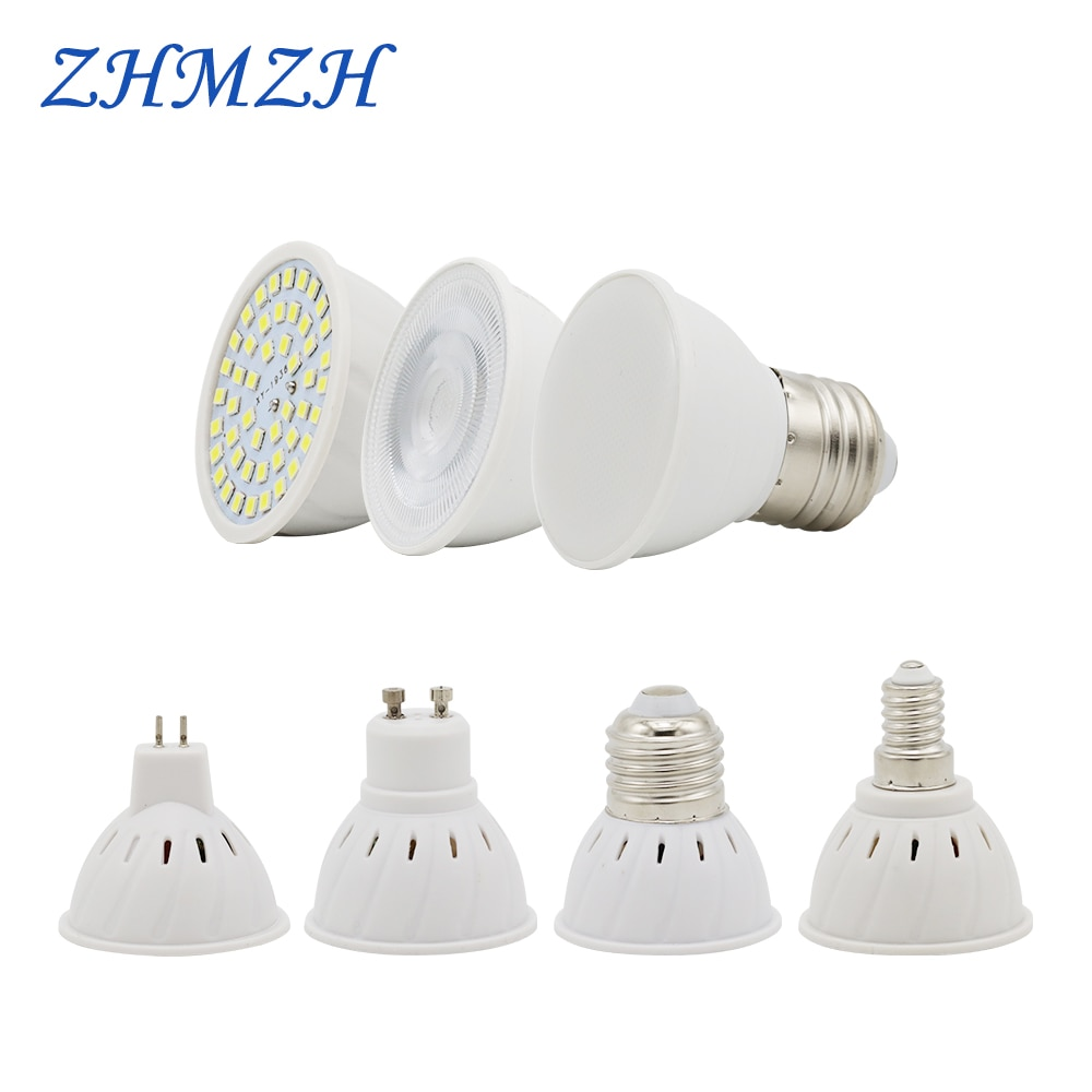 Светодиодная лампа E27 E14 MR16 GU10, 220 В, 48 светодиодов, 2835 светодиодов, 6 Вт
