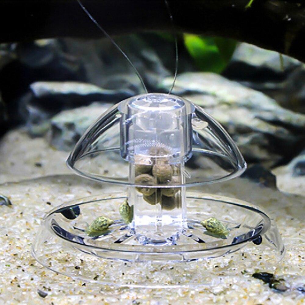 Aquário tanque de peixes plástico claro caracol armadilha catcher plantas planarian pragas captura caixa sanguessuga com buraco ar ambiente ferramentas limpas