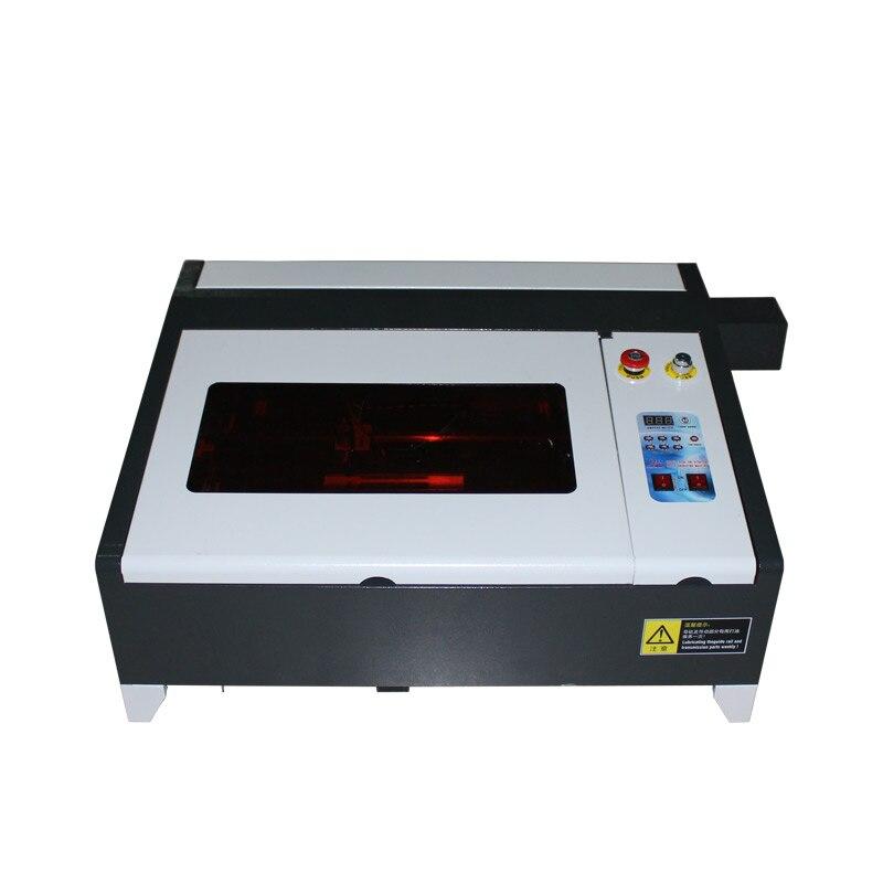 Tamaño del trabajo de escritorio 400*400mm LY CO2 máquina de grabado láser con función Digital y mesa de panal de alta velocidad 4040 50W