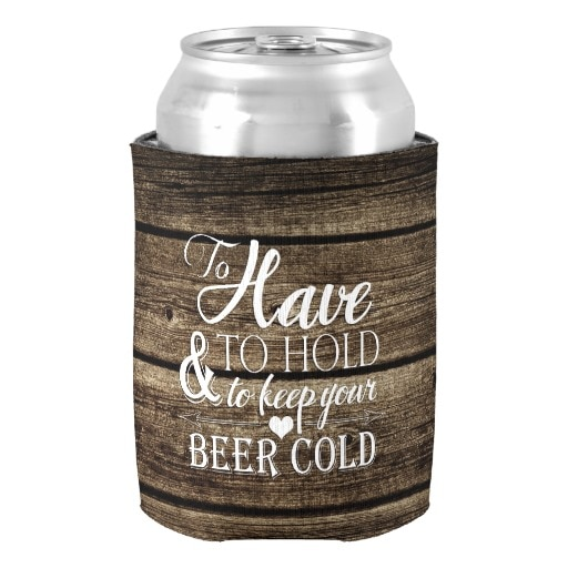 Exquisito para mantener el granero de madera rústica de la boda puede enfriar los soportes de enfriador de cerveza personalizados bebidas y bebidas populares aislante