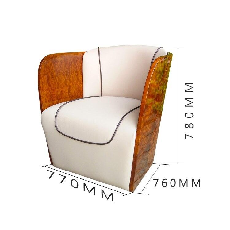 Paquete de 10x sillas, silla de salón con tapicería de cuero auténtico/silla de Club con reposabrazos de madera/sofá individual